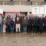 Départ de la Caravane en présence des élus du Conseil Général (janvier 2008)