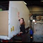 Préparation des camions du convoi